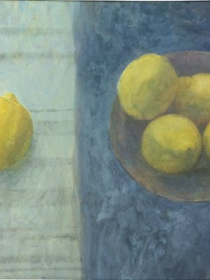 One Lemon in the Light, Watercolour Still Life