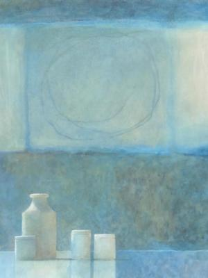 Pots with a Light Space, Watercolour Still Life