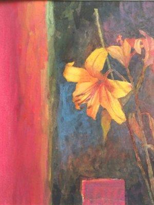 Single Lily, Watercolour Still Life