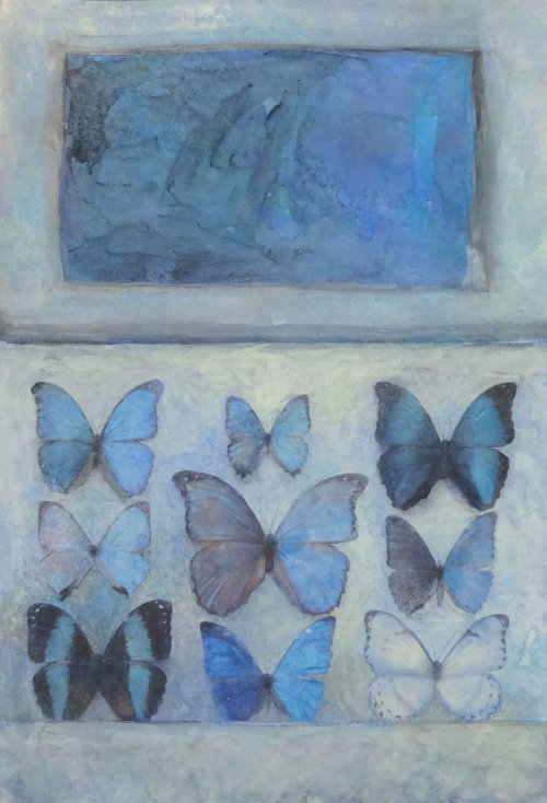 The Beat of a Butterfly's Wing, Watercolour Still Life