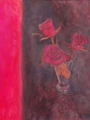 Old Velvet, Watercolour Still Life