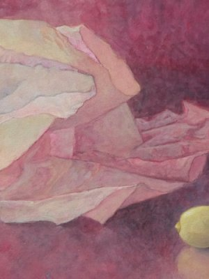 Tissue & Lemon, Watercolour Still Life