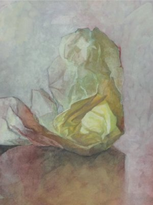 Paper & Box, Watercolour Still Life