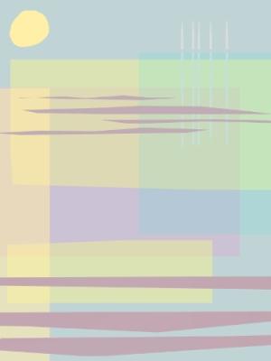Still Sea, Glass print
